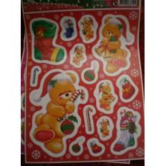 ORTA BOY CAM STICKER NOEL  WINDOW DECORATION