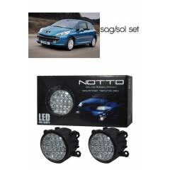 M-Light Peugeot 207 G�nd�z Ledli Beyaz Sis Lamba