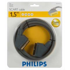 PHILIPS Gold Scart to Scart  Kablo 1.5metre