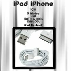 Apple T�m �r�nler i�in Eski Tip USB Data �arj 3m