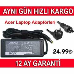 ACER LAPTOPLAR ���N ADAPT�R 19V 3.42A 65W