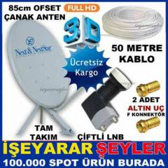 FULL �ANAK ANTEN SET� ��FL� LNB ve 50 MTKABLO KD