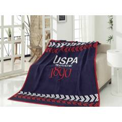 US Polo ASSN Home Tek Ki�ilik Battaniye Norfolk