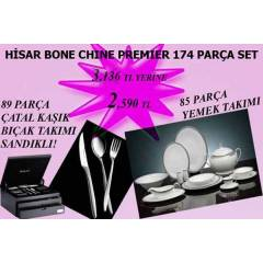 H�SAR BONE CHINA 174 PAR�A PREMIER SET PERA