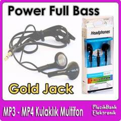 Mp3 / Mp4 Kulakl�k  Power Full Bass Gold Jack