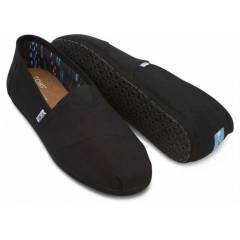 TOMS Erkek Ayakkab� - Black on Black Canvas Men