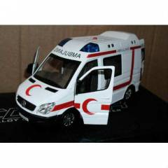 SESL� I�IKLI 1/32 �L�EK MERCEDES METAL AMBULANS