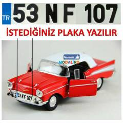1957 CHEVROLET BEL AIR MAKET ARABA + �ZEL PLAKA