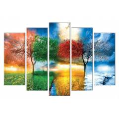 5 Par�a Canvas Tablo 70X110 (B�Y�K BOY �ASEL�)