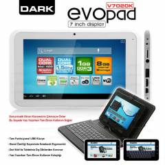 "Dark EvoPad V7020K  7"" �ift �ek. Tablet PC"