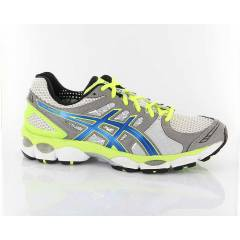ASICS GEL-NIMBUS 14 WHITE BRILLIANT BLUE NEON YE