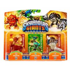 SKYLANDERS GIANTS ERUPTOR+ STEALTH ELF+ TERRAFIN