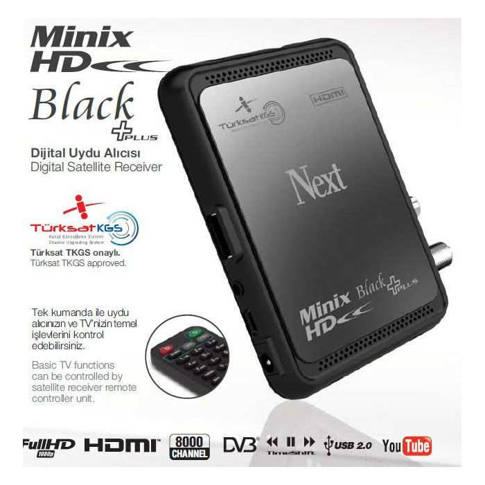 Next Minix HD Black +PLUS HD Uydu Al�c�s� TKGS