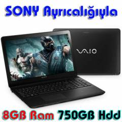 Sony Laptop i5 3337U 8GB 750GB 2GB Windows8