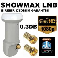 SHOWMAX FULL HD TEKL� LNB +2 ADET GOLD KONNEKTOR
