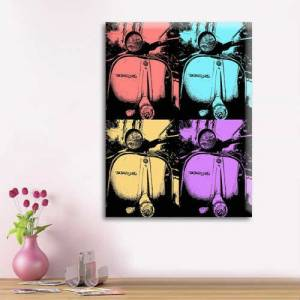 Pop Art Vespa Kanvas Tablo