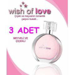 AVON WISH OF LOVE BAYAN PARF�M� 3 ADET+FATURAL