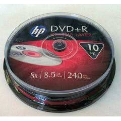 HP DVD+R DOUBLE LAYER 10 LU 8.5 GB 8X 240 DAK�KA