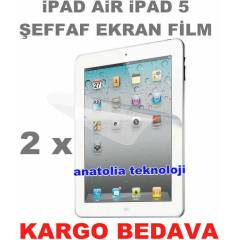 Apple iPad 5 iPad Air Ekran Koruyucu Film Parlak