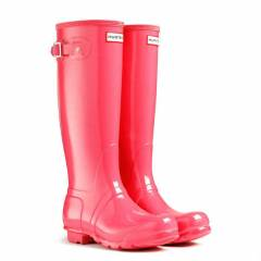 HUNTER Ya�mur �izmesi Botu -Gloss CRIMSON PINK