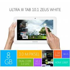 Piranha Ultra III Tab 10.1 Zeus White IPS Tablet