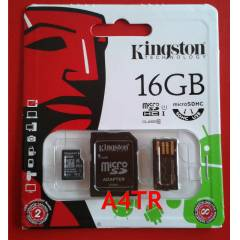 KINGSTON 16GB CLASS 10 MICRO SD+USB KART OKUYUCU