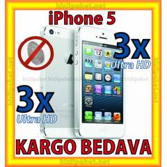 iPhone 5 3 �N 3 ARKA ULTRA HD EKRAN KORUYUCU