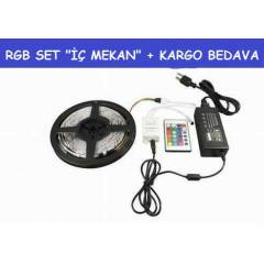 10 MT SET - RGB �ER�T LED+ADAPT�R+KUMANDA+KARGO