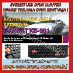 EVEREST KB-961USB MULT�MEDYA OYUN GAME KLAVYES�