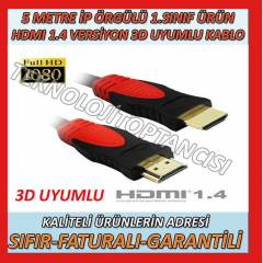 5 METRE HDMI TO HDMI �RG�L� FULL HD KABLO