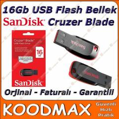 16 GB USB FLASH BELLEK SANDISK CRUZER BLADE