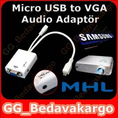 Galaxy Tab3 8.0 / 10.1 Micro Usb to Vga Adapt�r