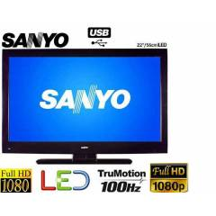 SANYO 22�N� 56CM USB FULL HD �NCE SL�M LED TV