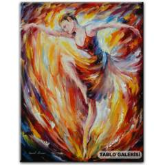 100X70 KANVAS TABLO AFREMOV FLAM�NG DANCE