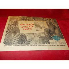 GOOD YEAR ARABA LAST��� REKLAMI.16.05.1951 TAR�H