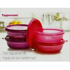 TUPPERWARE �EKER KAPLAR  4 X 300 ML (Pembe&Mor)