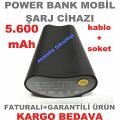 POWER BANK 5600 mAh MOB�L �ARJ C�HAZI+KARGO