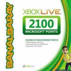 Xbox Live 2100 Microsoft  MS Points EU UK AVRUPA