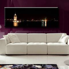 150X44cm CANVAS TABLO KIZ KULES� PANORAMA