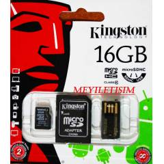KINGSTON 16GB CLASS 10 MICRO SDHC+USB ADAPT�R