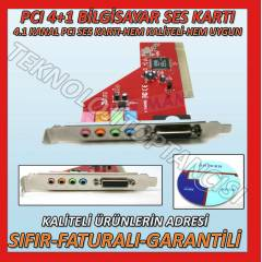 4+1 PCI SES KARTI 5 KANAL SOUND CARD