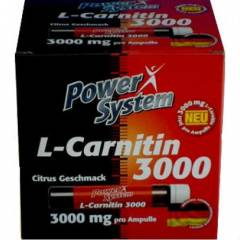 POWER SYSTEM L-Carnitine 3000 mg, 20 ampulx25ml