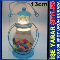 METAL GEM�C� FENER� AKVARYUM TEA LIGHT MUMLUK kd