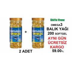 2 ADET Shiffa Home Omega3 1000mg Bal�k Ya��