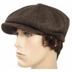 NEW YORK HAT Co. marka Kasket - %100 y�n tweed
