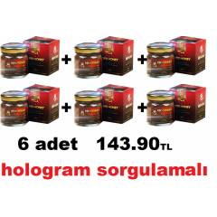 6 ADET Red Honey Macun K�rm�z� Bal