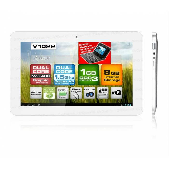 "Dark EvoPad V1022K Usb Klavyeli 10.1"" Tablet Pc"