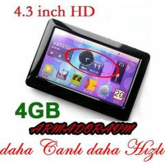 4,3 in� DOKUNMAT�K EKRAN 4GB MP5 M�Z�K �ALAR