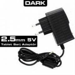 Dark 5V 2.5mm 2A Universal Tablet �arj Adapt�r�