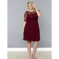 MANGOL�NO DRESS MD7001  Abiye elbise Bordo